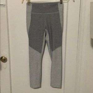 Outdoor voices grey two tone leggings